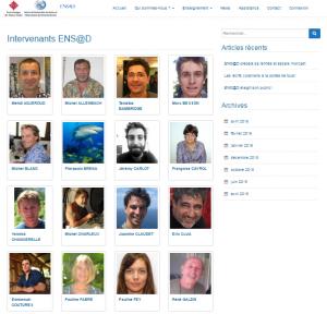 """""""Face Book"""" des Intervenants ENS@D, dans l'onglet Enseignement"""